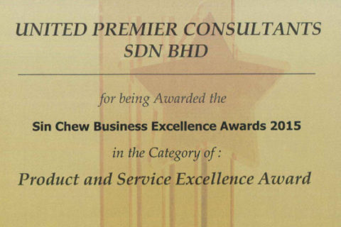 SIN CHEW BUSINESS EXCELLENCE AWARD 2015
